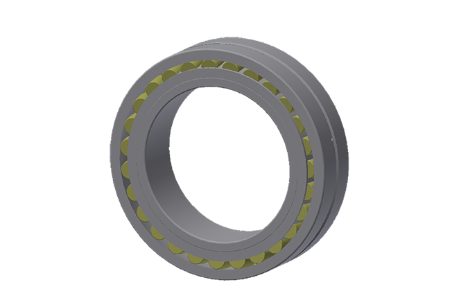 Oscillating roller bearings